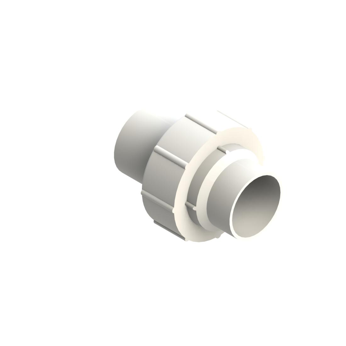 PVDF UHP 3-delige koppeling standaard