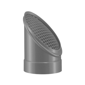 PVC-U Ventilatie Buiseind met vogelrooster