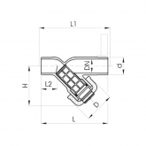 GF PVC-U VUILVANGER 305 TRANSPARANT d25 PN10 EPDM LIJMEIND EXCLUSIEF ZEEF 192305350