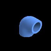 AGRU PE100 Knie Perslucht 90° d20 Moflas PN16 Blauw 22051002007