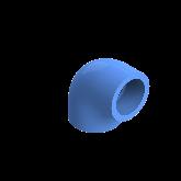 AGRU PE100 Knie Perslucht 90° d32 Moflas PN16 Blauw 22051003207