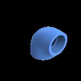 AGRU PE100 Knie Perslucht 90° d50 Moflas PN16 Blauw 22051005007
