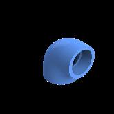 AGRU PE100 Knie Perslucht 90° d63 Moflas PN16 Blauw 22051006307