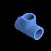 AGRU PE100 T-stuk Perslucht 90° d25 Moflas PN16 Blauw 22056002507
