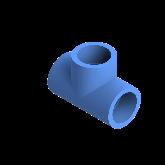 AGRU PE100 T-stuk Perslucht 90° d32 Moflas PN16 Blauw 22056003207