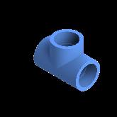 AGRU PE100 T-stuk Perslucht 90° d40 Moflas PN16 Blauw 22056004007