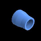 AGRU PE100 Verloopstuk Perslucht d50 -d32 Moflas PN16 Blauw 22057503207