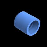 AGRU PE100 Verloopstuk Perslucht d63 -d50 Moflas PN16 Blauw 22057635007