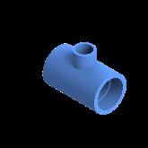 AGRU PE100 Verloop t-stuk Perslucht 90° d63 -d32 -d63 Moflas PN16 Blauw 22055633207