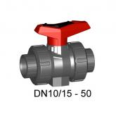 """GF PVC-U Kogelkraan 546 pro 3/8"""" PN10 EPDM Bi dr 161546741"""