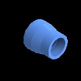 AGRU PE100 Verloopstuk Perslucht d63 -d32 Moflas PN16 Blauw 22057633207