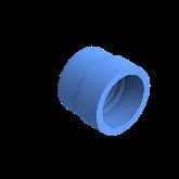 AGRU PE100 Verloopstuk Perslucht d75 -d63 Moflas PN16 Blauw 22057756307