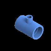 AGRU PE100 Verloop t-stuk Perslucht 90° d63 -d25 -d63 Moflas PN16 Blauw 22055632507