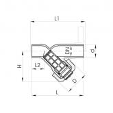 GF PVC-U Vuilvanger 305 Transparant d25 PN10 FPM Lijmeind Exclusief zeef 192305399