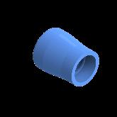 AGRU PE100 Verloopstuk Perslucht d75 -d50 Moflas PN16 Blauw 22057755007