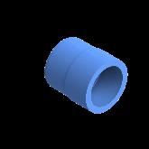 AGRU PE100 Verloopstuk Perslucht d50 -d40 Moflas PN16 Blauw 22057504007