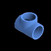 AGRU PE100 T-stuk Perslucht 90° d110 Moflas PN16 Blauw 22056011007