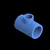 AGRU PE100 Verloop t-stuk Perslucht 90° d63 -d40 -d63 Moflas PN16 Blauw 22055634007