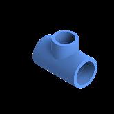 AGRU PE100 Verloop t-stuk Perslucht 90° d40 -d32 -d40 Moflas PN16 Blauw 22055403207