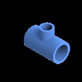 AGRU PE100 Verloop t-stuk Perslucht 90° d40 -d20 -d40 Moflas PN16 Blauw 22055402007