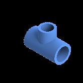 AGRU PE100 Verloop t-stuk Perslucht 90° d32 -d25 -d32 Moflas PN16 Blauw 22055322507