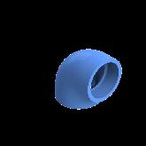 AGRU PE100 Knie Perslucht 90° d110 Moflas PN16 Blauw 22051011007