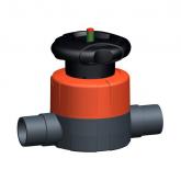 GF PVC-U Membraanafsluiter 515 d20 PN10 EPDM Lijmeind 161515012