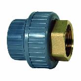 """GF ABS /Messing 3-delige koppeling d20 -1/2"""" Sok/bi dr PN10 729550506"""
