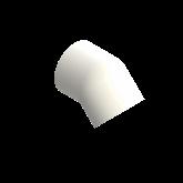 AGRU PVDF UHP Knie 45° Lang d75 Stomplas SDR21 35060007521