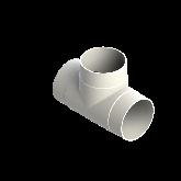 AGRU PVDF UHP T-stuk 90° d90 Stomplas SDR33 35006009033