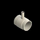 AGRU PVDF UHP Verloop t-stuk 90° d160 -d40 -d160 Stomplas SDR21 35307164021