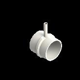 AGRU PVDF UHP Verloop t-stuk 90° d160 -d25 -d160 Stomplas SDR33/21 35307162531