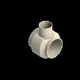 AGRU PVDF UHP Verloop t-stuk 90° d225 -d140 -d225 Stomplas SDR33 35307221433