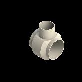 AGRU PVDF UHP Verloop t-stuk 90° d225 -d160 -d225 Stomplas SDR33 35307221633