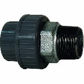 """GF ABS /Gietijzer 3-delige koppeling d25 -3/4"""" Sok/bu dr PN10 EPDM 729530807"""
