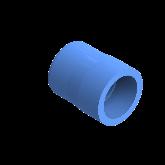AGRU PE100 Verloopstuk Perslucht d40 -d32 Moflas PN16 Blauw 22057403207