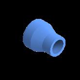 AGRU PE100 Verloopstuk Perslucht d50 -d25 Moflas PN16 Blauw 22057502507
