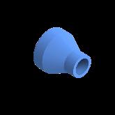 AGRU PE100 Verloopstuk Perslucht d63 -d25 Moflas PN16 Blauw 22057632507