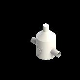 Agru PVDF UHP Drukreduceerventiel V82 d40 SDR21 Stomplas Met manometer 35241004021