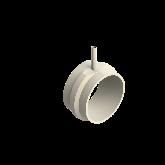 AGRU PVDF UHP Verloop t-stuk 90° d225 -d110 -d225 Stomplas SDR33/21 35065221131