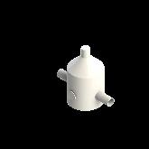 Agru PVDF UHP Drukreduceerventiel V82 d20 SDR21 Stomplas 0 Met manometer 35241002021
