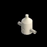 Agru PVDF UHP Drukreduceerventiel V82 d20 SDR21 Stomplas Met rvs manometer 35241102021