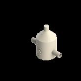Agru PVDF UHP Drukreduceerventiel V82 d25 SDR21 Stomplas Met rvs manometer 35241102521