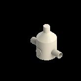 Agru PVDF UHP Drukreduceerventiel V82 d32 SDR21 Stomplas Met rvs manometer 35241103221