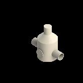 Agru PVDF UHP Drukreduceerventiel V82 d50 SDR21 Stomplas Met rvs manometer 35241105021