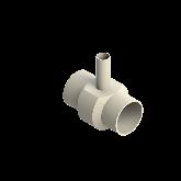 AGRU PVDF UHP Verloop t-stuk 90° d110 -d40 -d110 Stomplas SDR21 35307114021