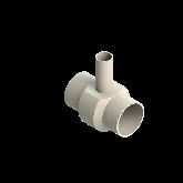 AGRU PVDF UHP Verloop t-stuk 90° d110 -d50 -d110 Stomplas SDR21 35307115021