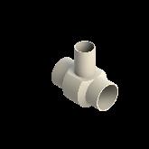 AGRU PVDF UHP Verloop t-stuk 90° d110 -d75 -d110 Stomplas SDR21 35307117521