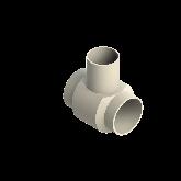 AGRU PVDF UHP Verloop t-stuk 90° d140 -d110 -d140 Stomplas SDR21 35307141121