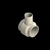 AGRU PVDF UHP Verloop t-stuk 90° d140 -d90 -d140 Stomplas SDR21 35307149021